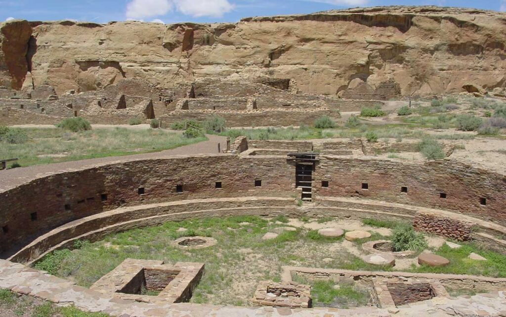 Kiva at Pueblo Bonito in Chaco Canyon