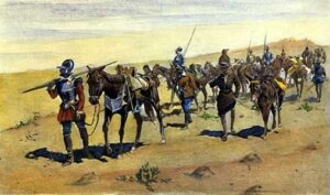 Frederick Remington painting of the Coronado Expedition