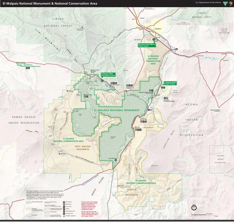 El Malpais map