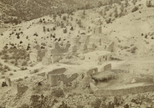The ruins circa 1877. Photo by John K. Hillers.