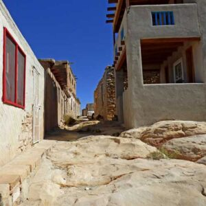 Stone walking paths in Acoma Sky City