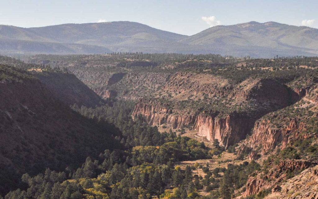 Bandelier National Monument, overlooking Frijoles canyon