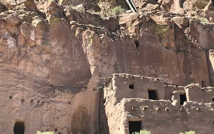 Cliff house at Puye Cliff Dwellings