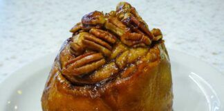Cornerstone Bakery pecan cinnamon roll