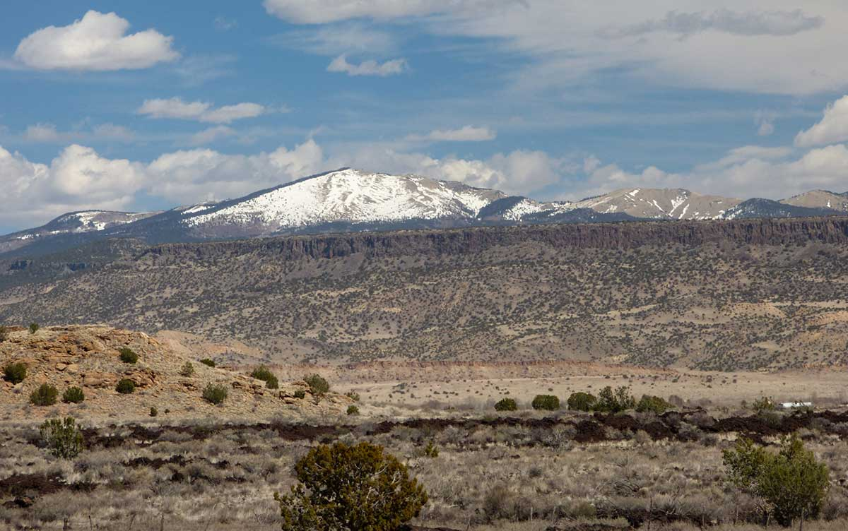 Mount Taylor in the distance from El Malpais National Monument
