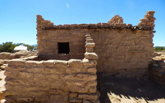 Puye Cliff Dwellings on top of the mesa