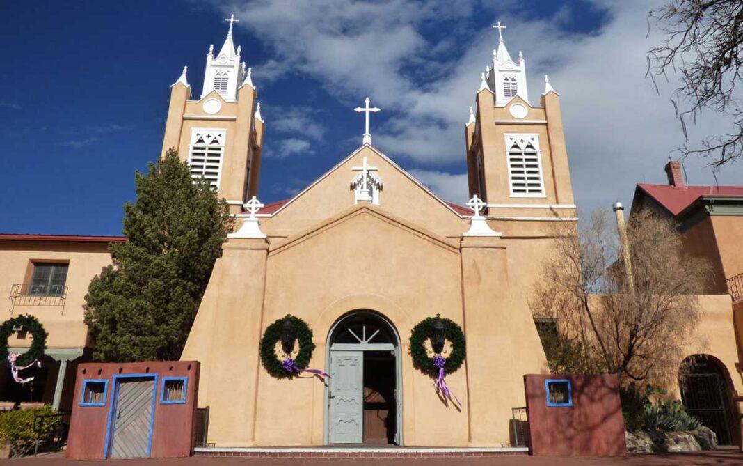 San Felipe de Neri church in old town Albuquerque