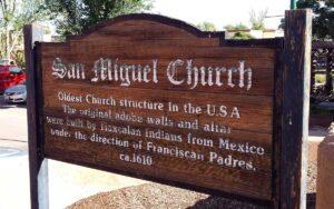San Miguel Santa Fe sign