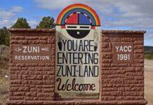 Entering Zuni land