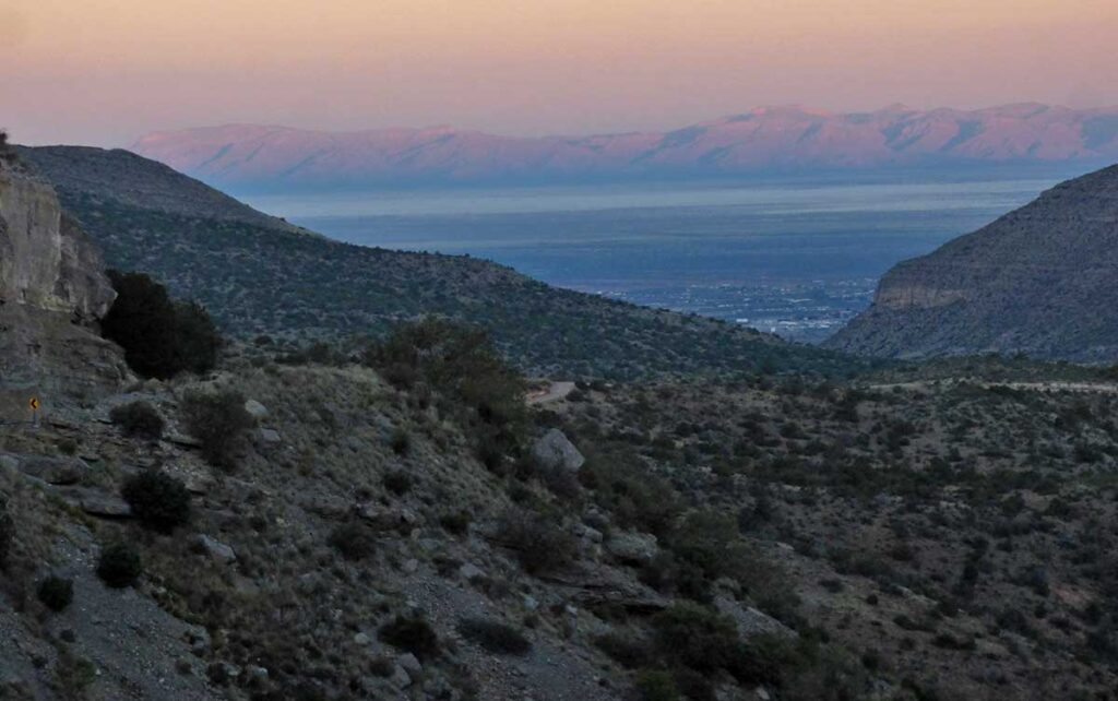 Sunrise looking over the Tularosa Basin