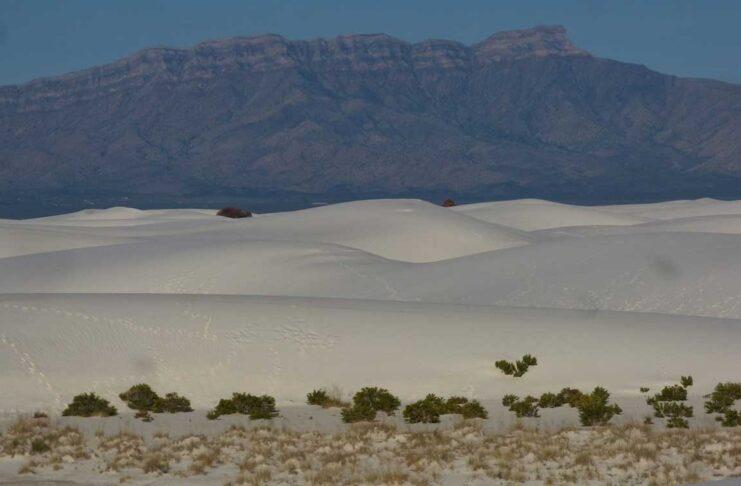 Mountains and gypsum dunes