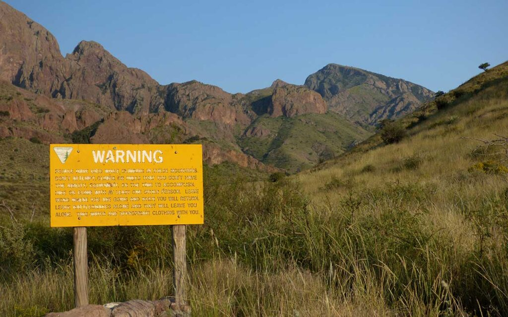 Dripping Springs warning sign
