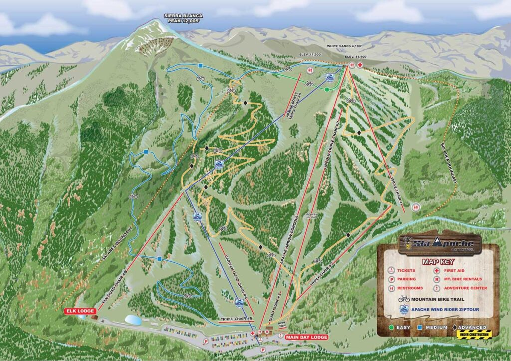 Ski Apache trails