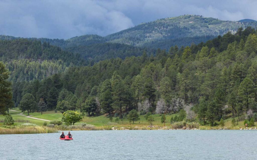 Boating on Lake Mescalero