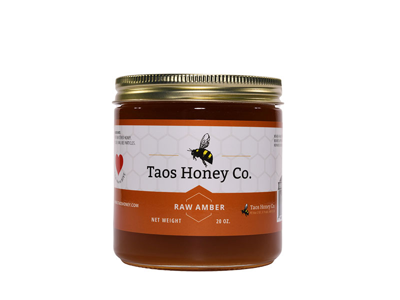 20 oz raw amber honey