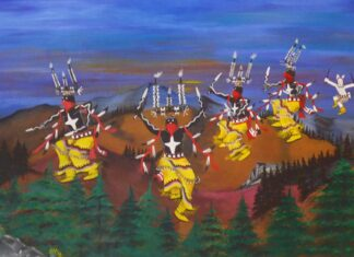 Mescalero Apache Crown Dancers at Inn of the Mountain Gods