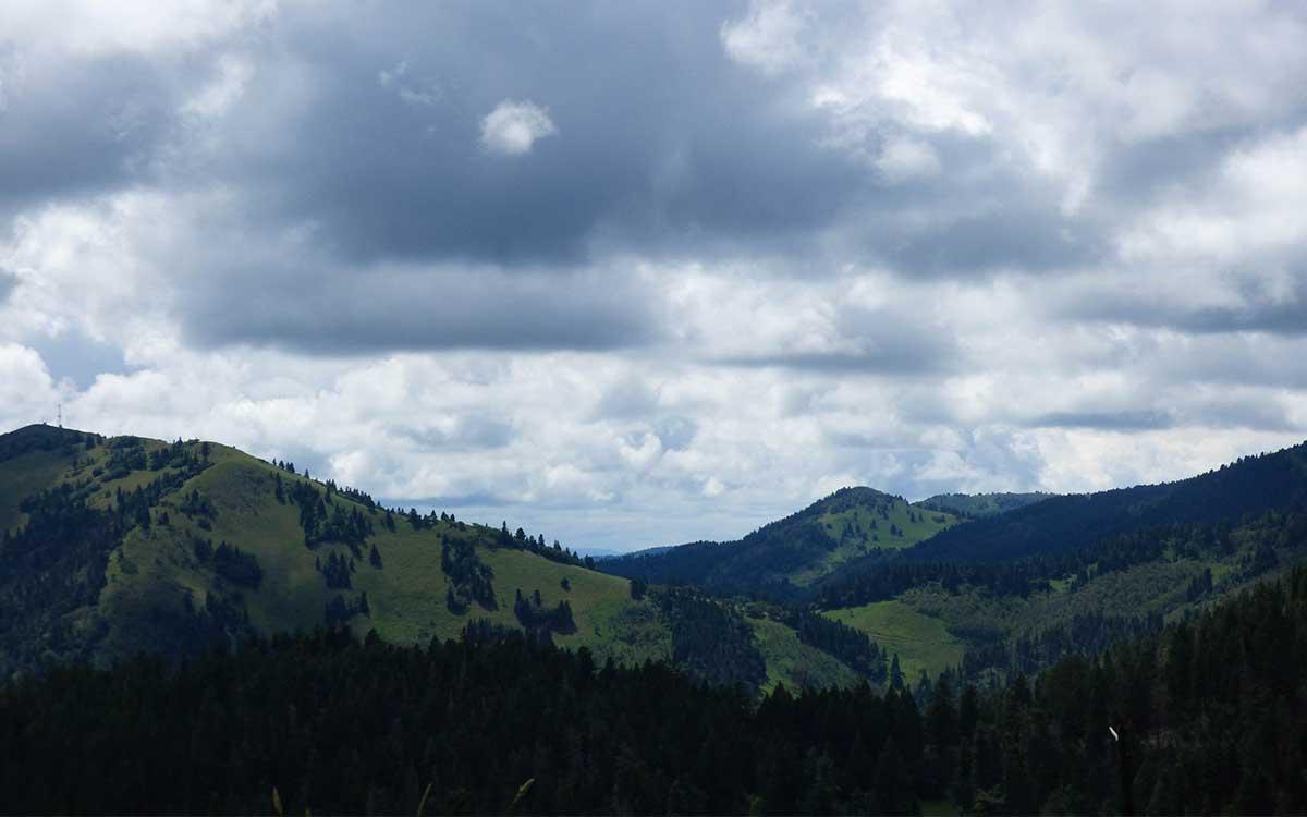 Sacramento Mountains from Sierra Blanca