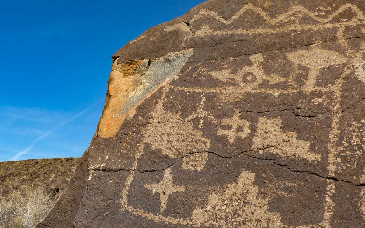 Petroglyph message from the ancients