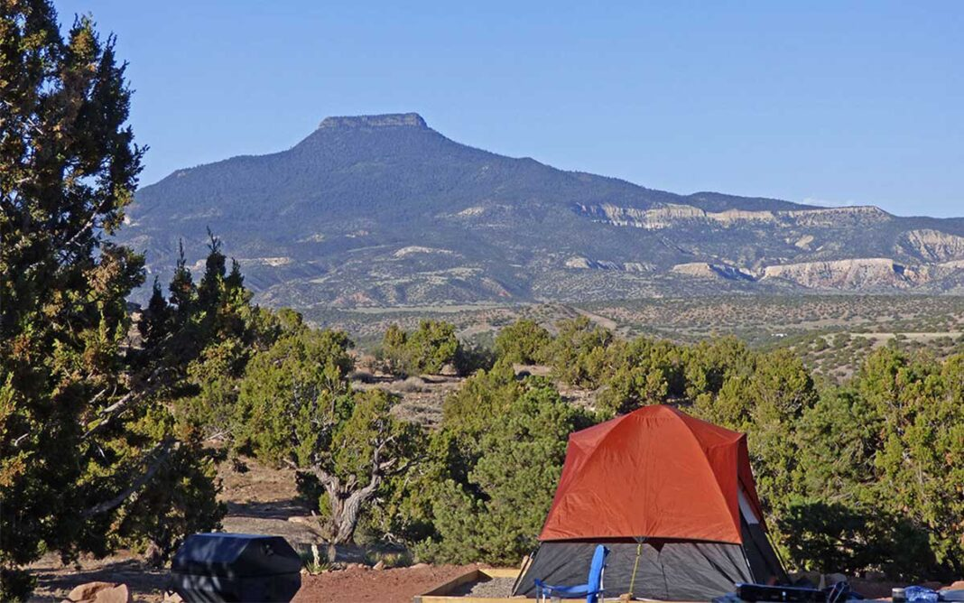 Camping in northwest New Mexico
