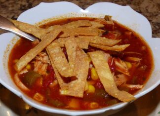 green chile chicken tortilla soup