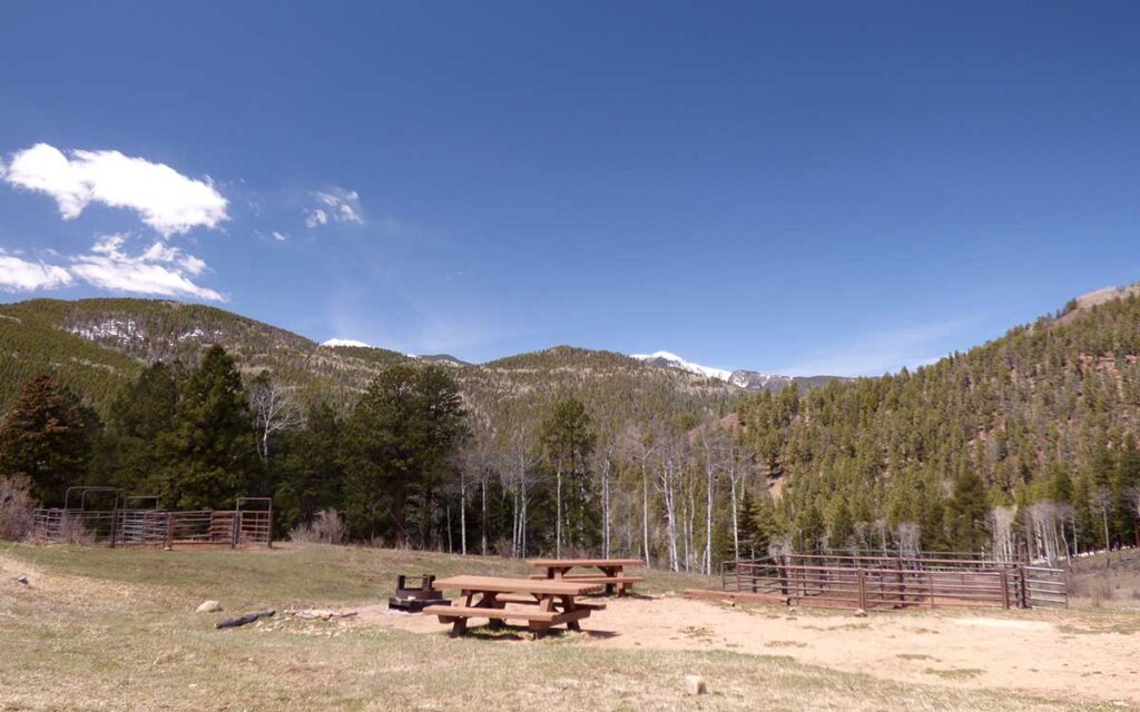 Panchuela campground in the Pecos Wilderness