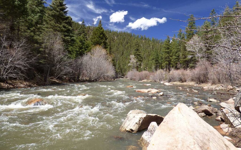 Pecos River in the Pecos Wilderness area