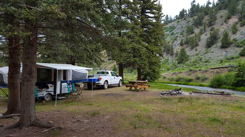 Camping on Rio Costilla