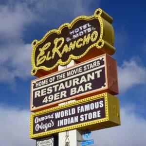 El Rancho Hotel signage