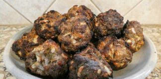 Green chile meatballs