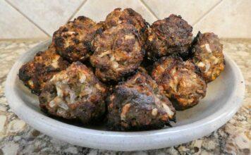 Green chile meatballs